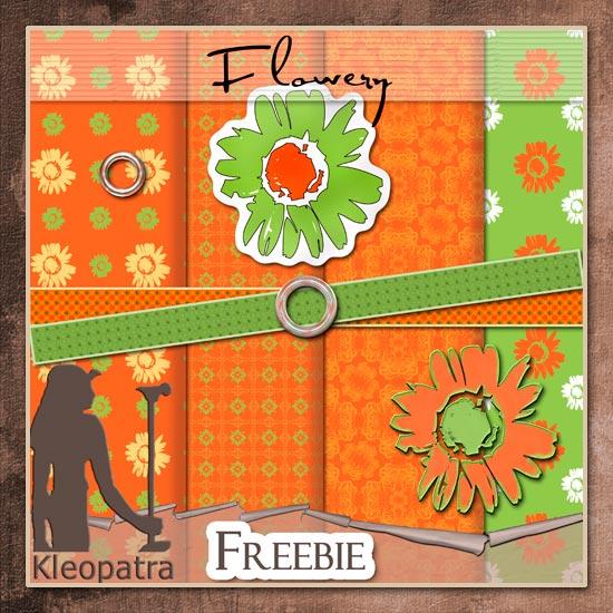 Flowery freebie